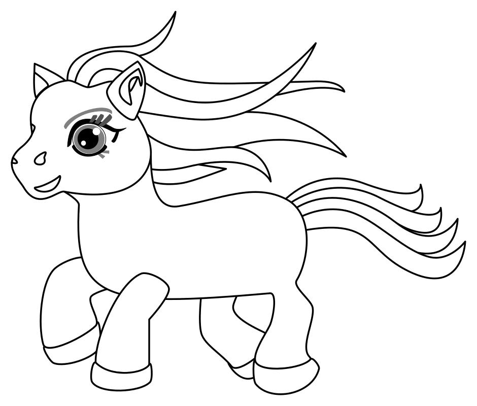 Раскраска Скачущая пони