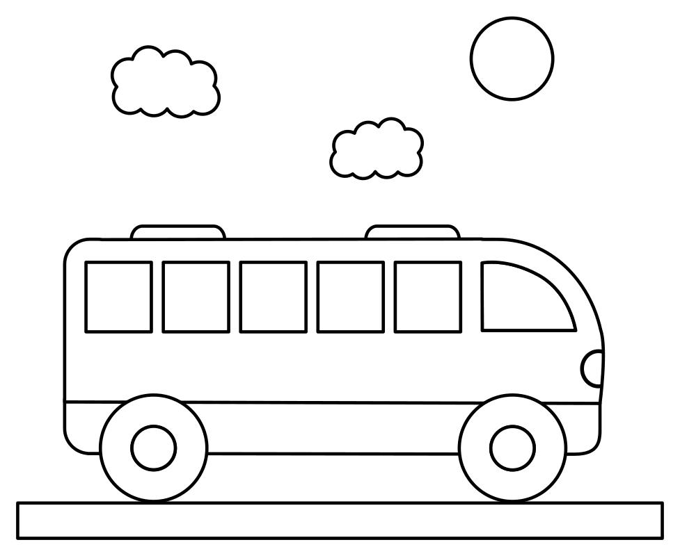 Раскраска Пассажирский автобус