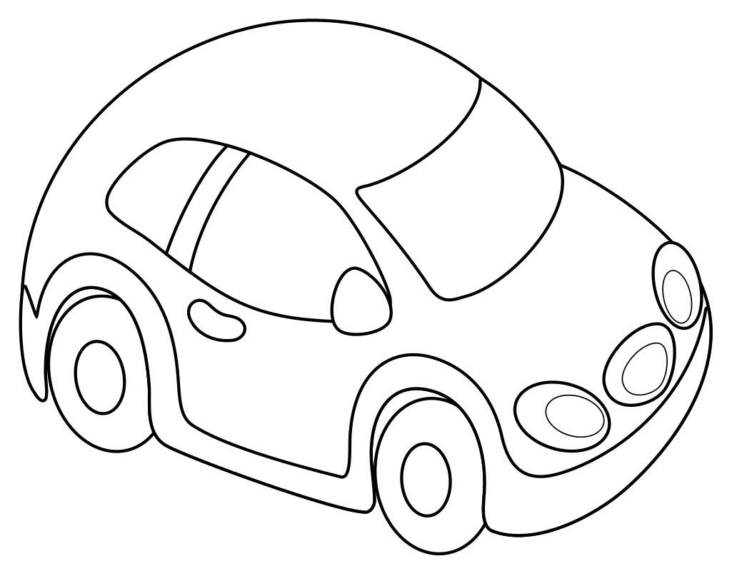 Раскраска - Малышам - Машинка | MirChild