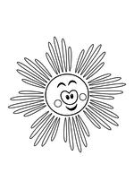 Раскраска - Малышам - Весёлое солнышко