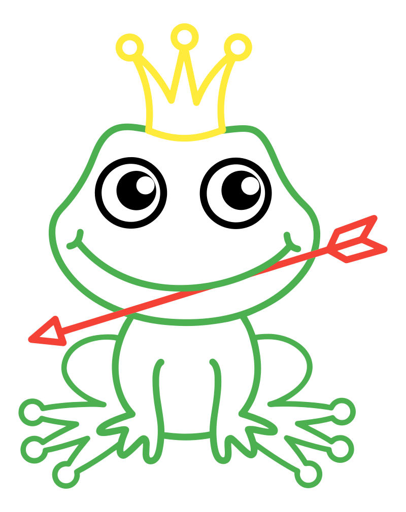 Раскраска - Малышам - Лягушка-царевна со стрелой   MirChild
