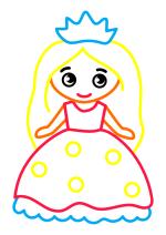 Раскраска - Малышам - Маленькая принцесса
