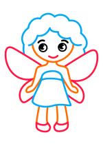 Раскраска - Малышам - Маленькая фея