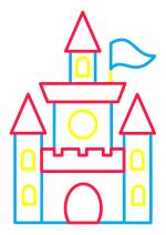 Раскраска - Малышам - Волшебный замок