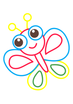 Раскраска - Малышам - Бабочка