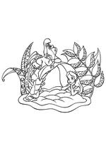 Раскраска - Алиса в Стране чудес - Алиса и Гусеница