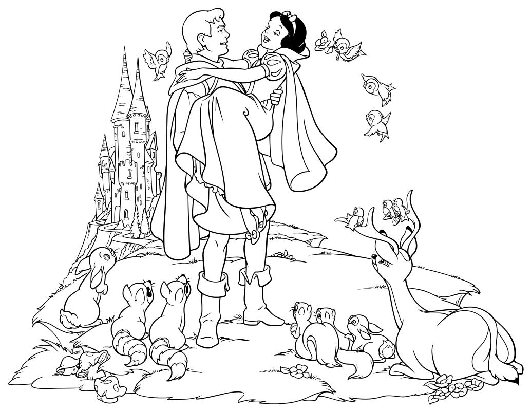 вопрос раскраска белоснежка и семь гномов распечатать сценарию