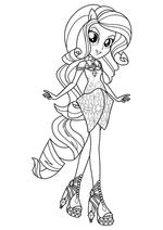 Раскраска - Мой маленький пони: Девочки из Эквестрии – Радужный рок - Рарити