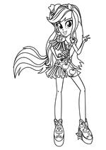 Раскраска - Мой маленький пони: Девочки из Эквестрии – Радужный рок - Радужный рок Эпплджек