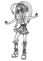 Раскраска - Мой маленький пони: Девочки из Эквестрии – Радужный рок - Радужный рок DJ Pon-3 / Винил Скрэтч