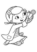 Раскраска Дотти и волшебный стетоскоп