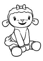 Раскраска Сидящая Лэмми