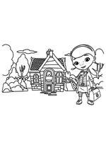 Раскраска - Доктор Плюшева - Добро пожаловать домой Дотти