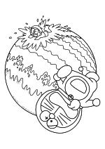 Раскраска - Дораэмон - Нобита и Дораэмон