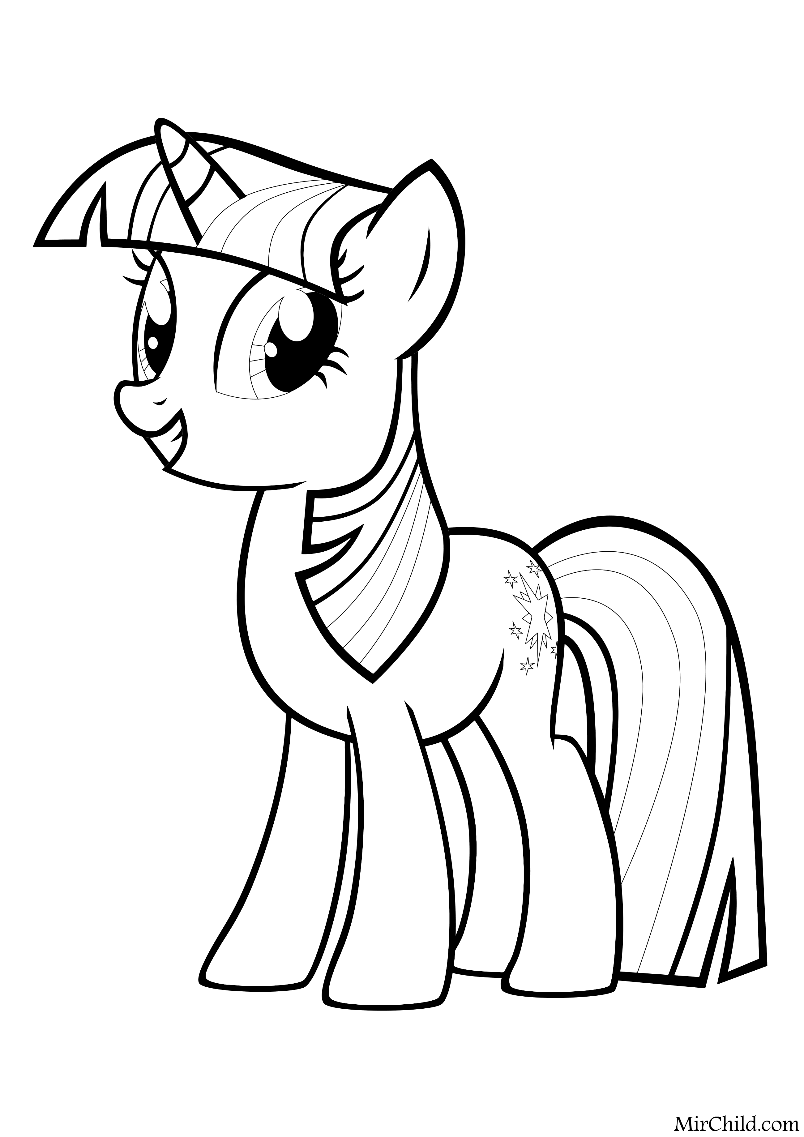 Раскраска - Мой маленький пони: Дружба – это чудо ...
