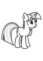 Раскраска - Мой маленький пони: Дружба – это чудо - Грустная Сумеречная Искорка