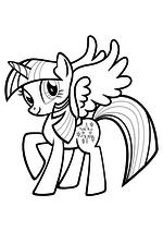 Раскраска - Мой маленький пони: Дружба – это чудо - Сумеречная Искорка с крыльями