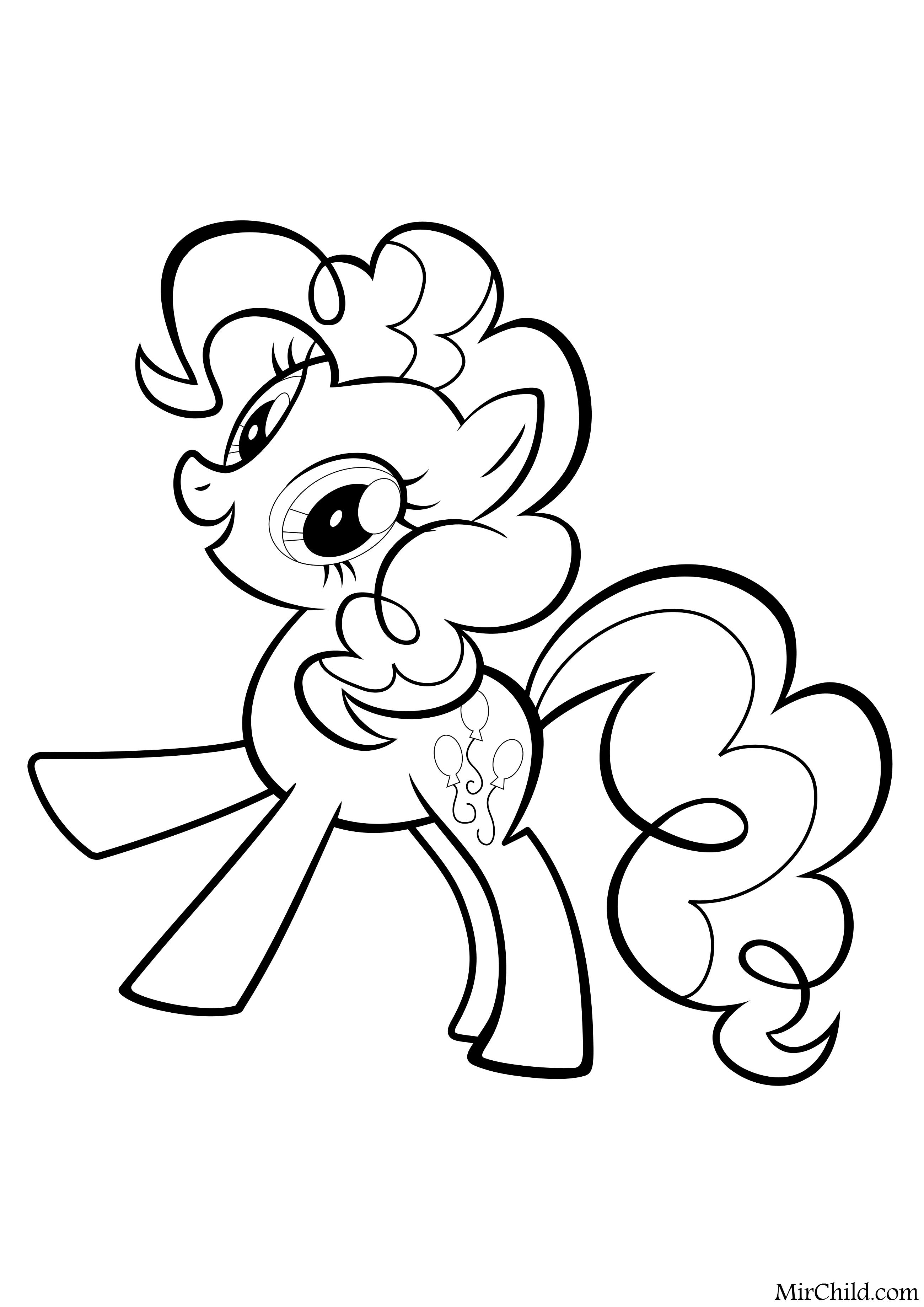 раскраска мой маленький пони дружба это чудо пинки