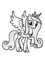 Раскраска - Мой маленький пони: Дружба – это чудо - Принцесса Каденс - Правительница Кристальной империи