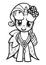 Раскраска - Мой маленький пони: Дружба – это чудо - Рарити - Свадьба в Кантерлоте