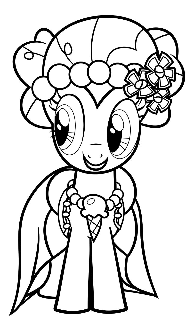 Раскраска - Мой маленький пони: Дружба – это чудо - Пинки ...