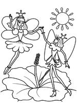 Раскраска - Дюймовочка - Дюймовочка и Принц эльфов