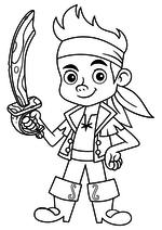 Раскраска - Джейк и пираты Нетландии - Джейк