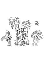 Раскраска - Джейк и пираты Нетландии - Пиратский праздник