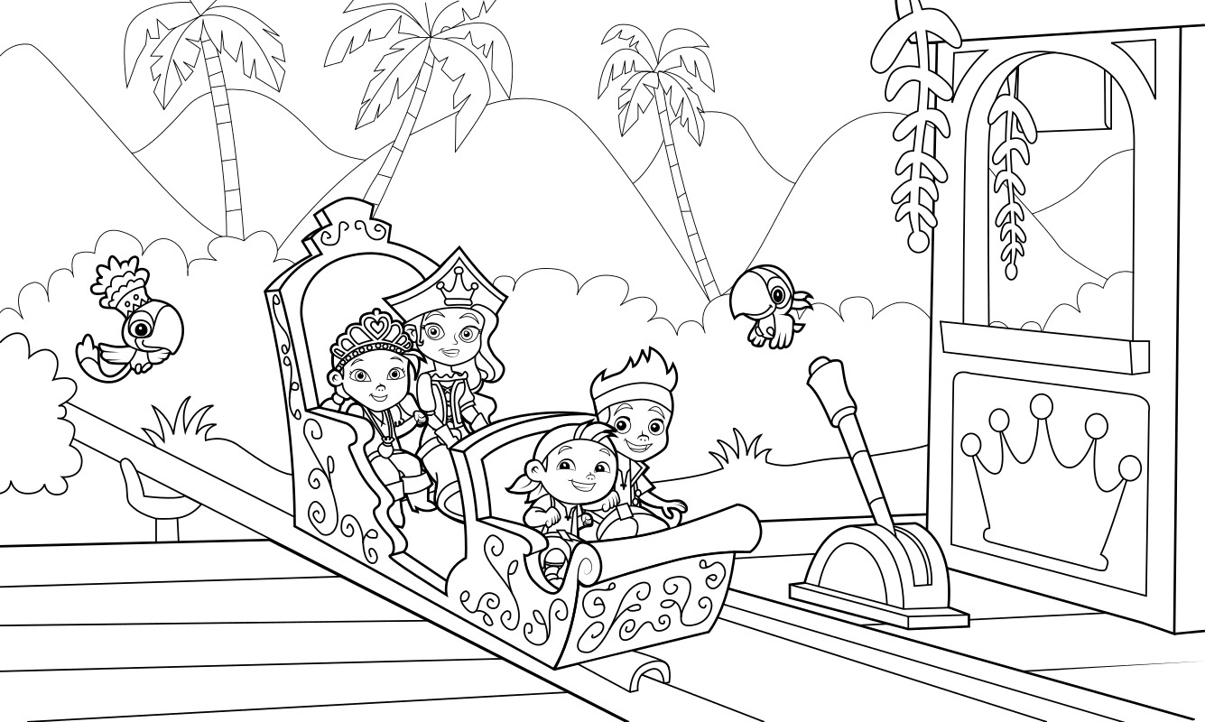 раскраска джейк и пираты нетландии сила принцесс Mirchild