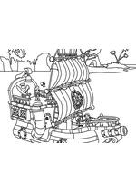 Раскраска - Джейк и пираты Нетландии - Пиратский корабль Быстрый