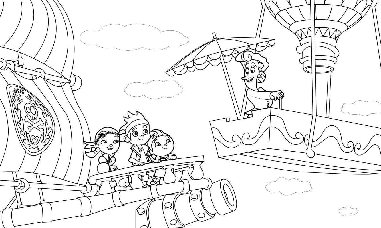 раскраска джейк и пираты нетландии няня нелл Mirchild