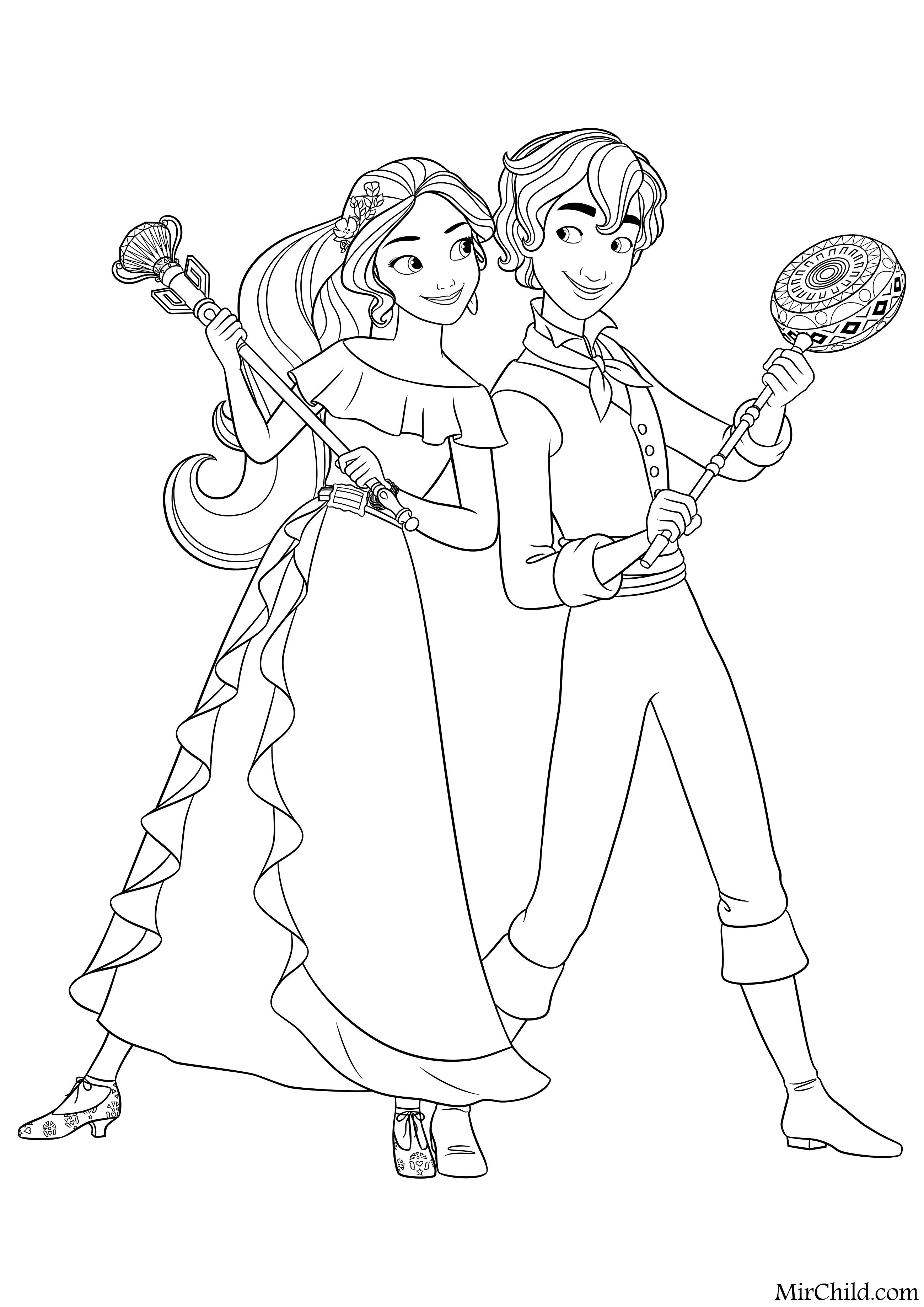 Раскраска - Елена - принцесса Авалора - Принцесса Елена и ...