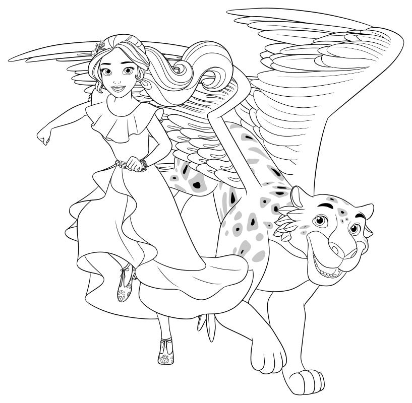 Раскраска - Елена - принцесса Авалора - Елена и джаквин ...