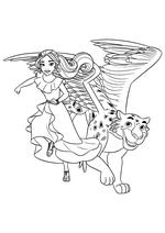 Раскраска - Елена - принцесса Авалора - Елена и джаквин Скайлар