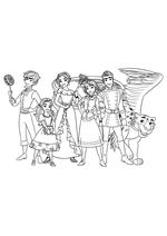 Раскраска - Елена - принцесса Авалора - Матео, Изабель, Елена, Наоми, Гейб и Скайлар