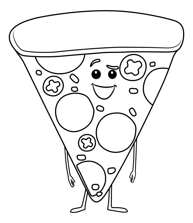 распечатать раскраски пиццы фотографиях автомобиль