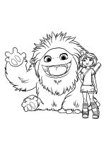 Раскраска - Эверест - Йети Эверест и девочка Лу