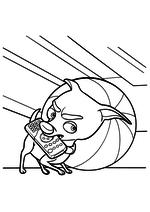 Раскраска - Фиксики - Кусачка с пультом под кроватью