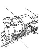 Раскраска - Фиксики - Симка и Нолик - машинисты паровоза
