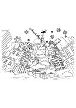 Раскраска - Финес и Ферб - Финес и Ферб на Рождество