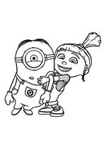 Раскраска - Гадкий я 3 - Агнес с Миньоном