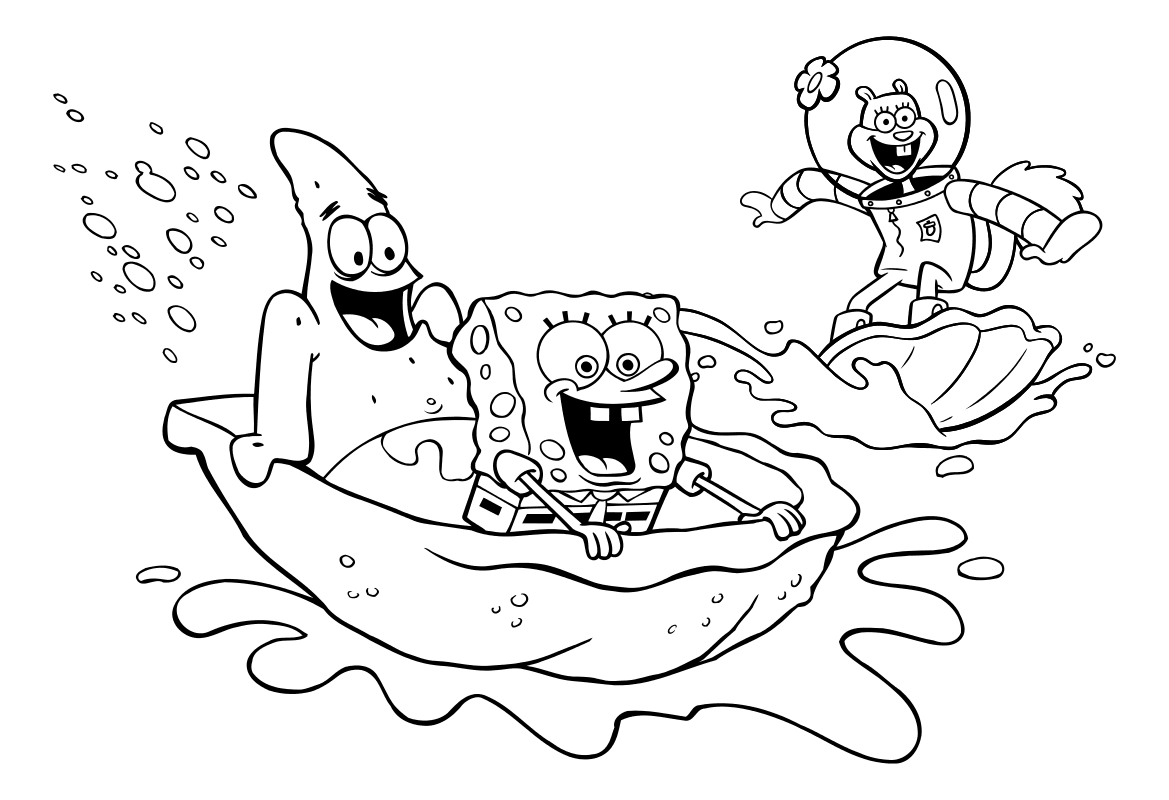 рисунки губка боб квадратные штаны и его друзья ролике показаны