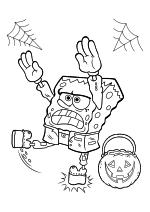Раскраска - Губка Боб Квадратные Штаны - Губка Боб на Хэллоуин