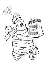 Раскраска - Губка Боб Квадратные Штаны - Патрик Стар на Хэллоуин