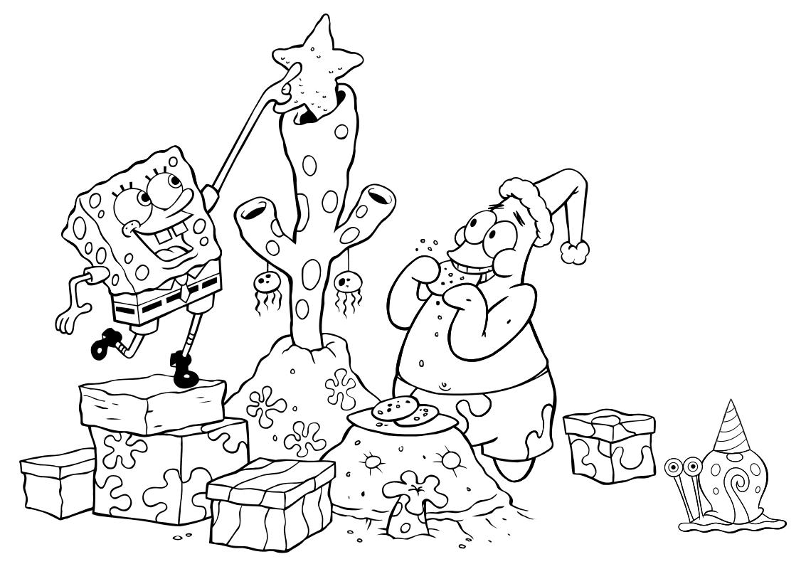 Раскраска - Губка Боб Квадратные Штаны - Губка Боб, Патрик ...