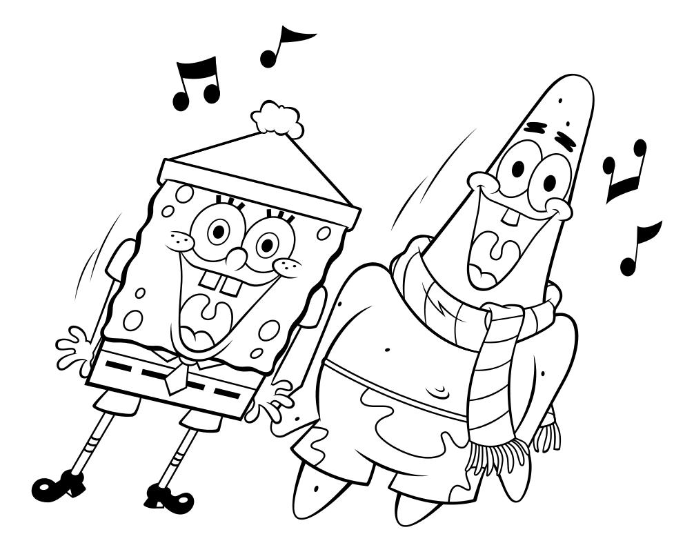Раскраска - Губка Боб Квадратные Штаны - Губка Боб и ...
