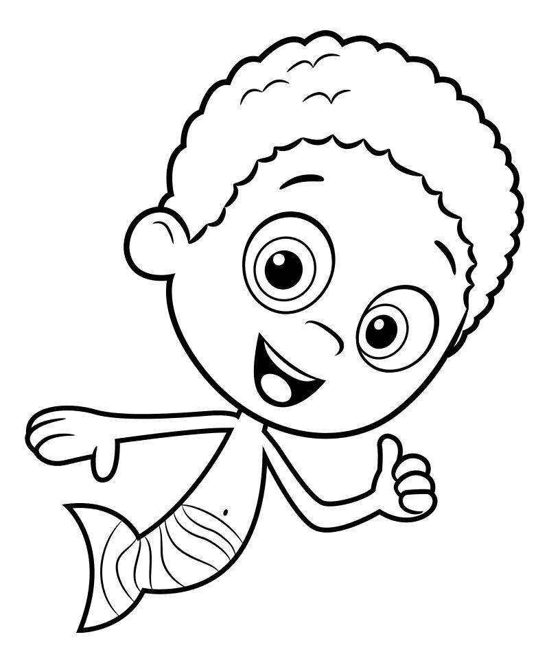 Раскраска - Гуппи и пузырики - Коби
