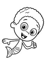 Раскраска - Гуппи и пузырики - Гоби