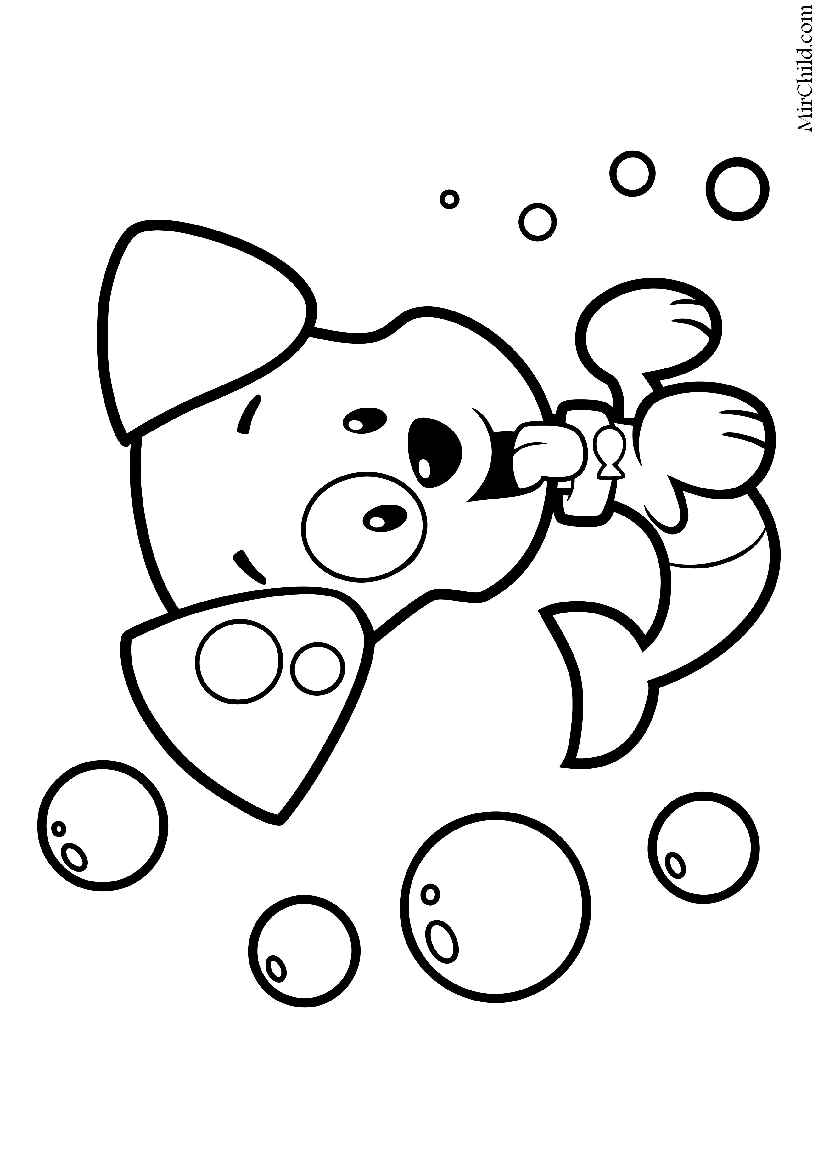 Раскраска - Гуппи и пузырики - Щенок Пузырёк | MirChild