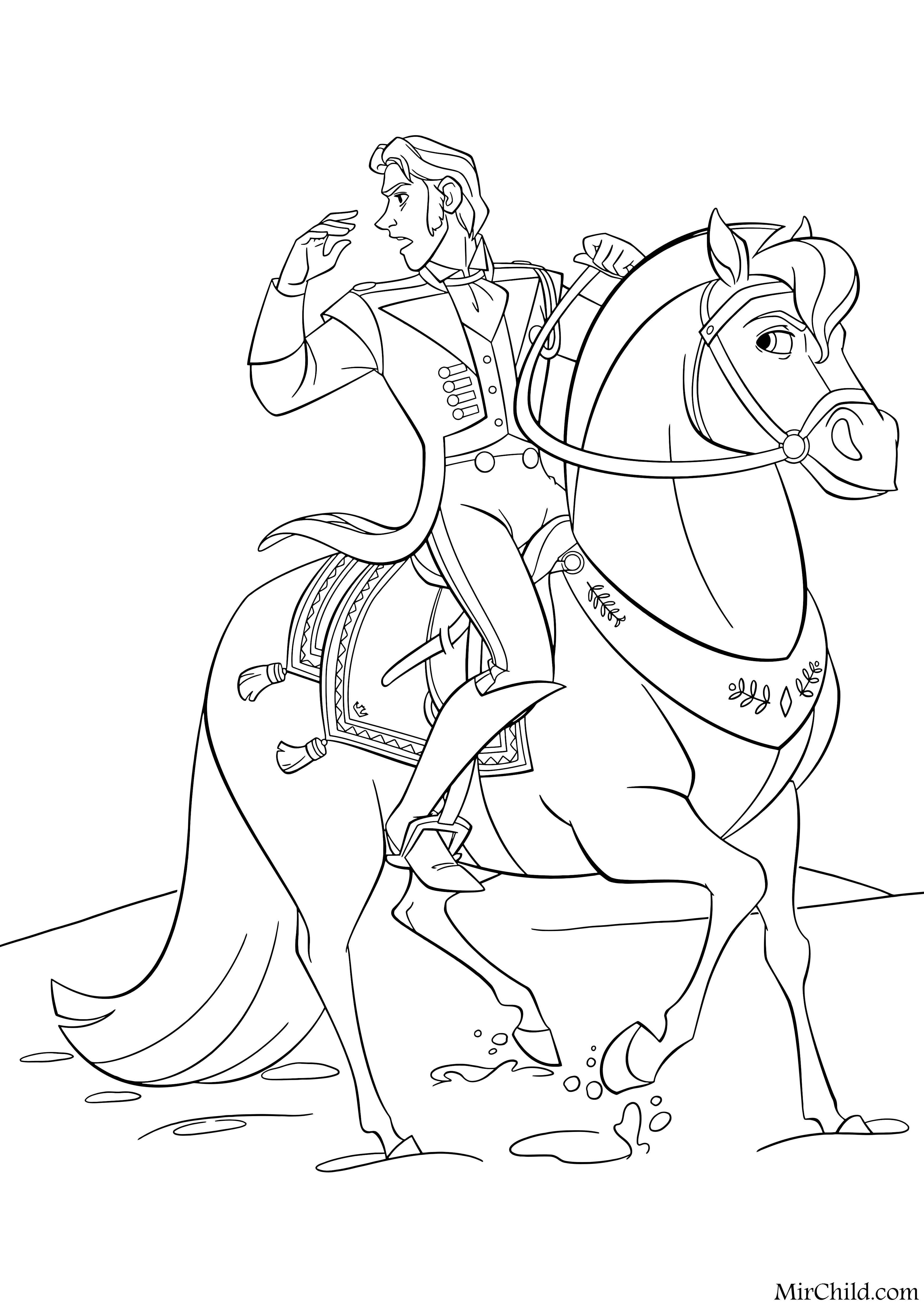Disney frozen coloring pages hans - Frozen Coloring Pages Disney Printables Free And Hansgallery Disney Wiki Fandom Powered By Wikia